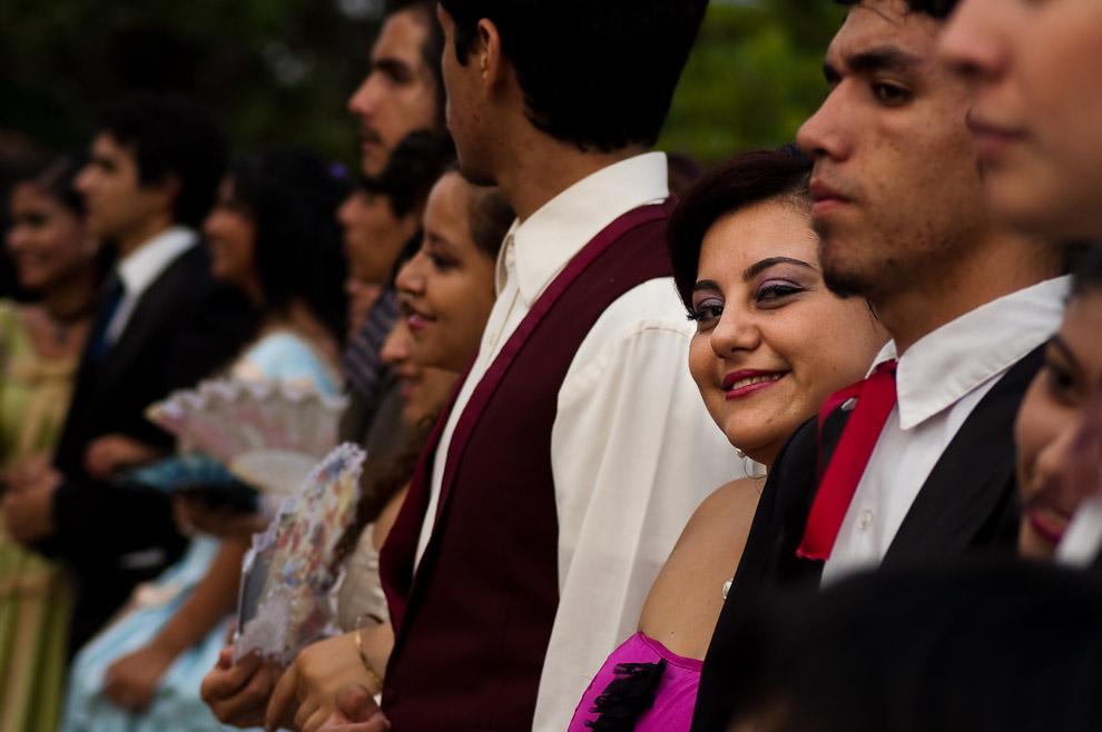 """La Lic Rossana Torres, profesora de danza,  forma parte del elenco secundario de actores de la obra """"El Túnel del Tiempo"""". (Areguá, Paraguay - Elton Núñez)"""