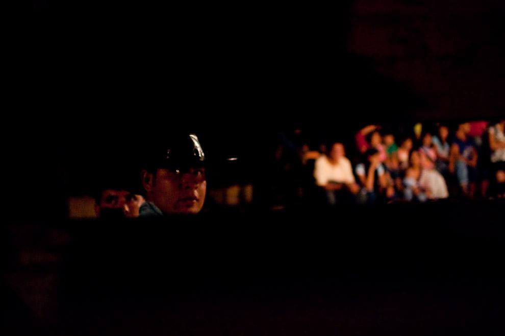Pedro Vera de 19 años, sobrino del Ganadero Ricardo Vera, administrador de la ganadería en la zona de Choré (San Pedro) dueño de los ejemplares puestos a disposición de la comision organizadora de la corrida de toros en 15 de Agosto. (15 de Agosto, Paraguay - Elton Núñez)
