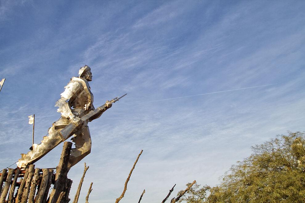 Monumento a los Soldados caídos en la Batalla de Boquerón. (Tetsu Espósito - Fortín Boquerón, Chaco, Paraguay)