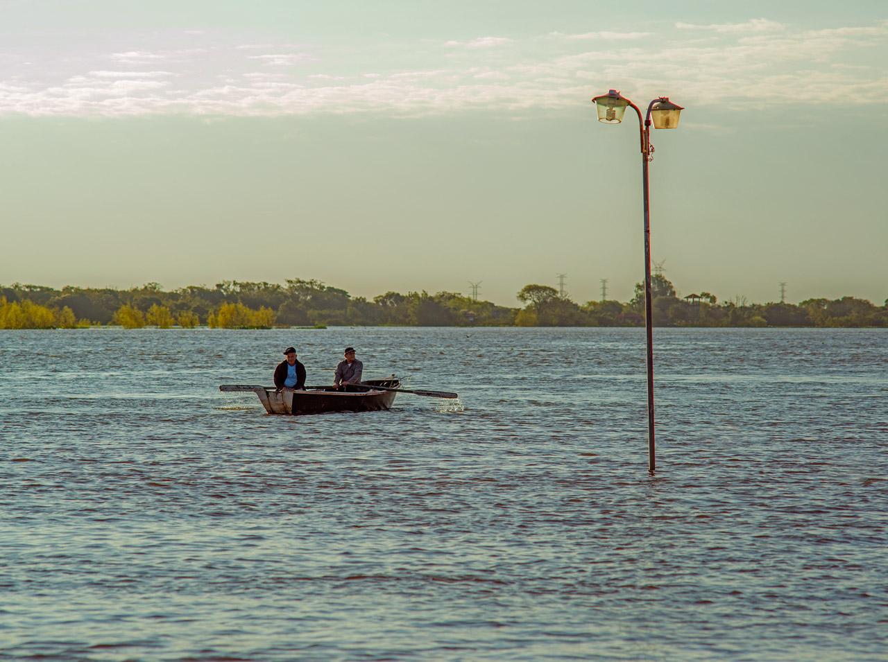 Bahía de Asunción en tiempos de inundación, año 2015.