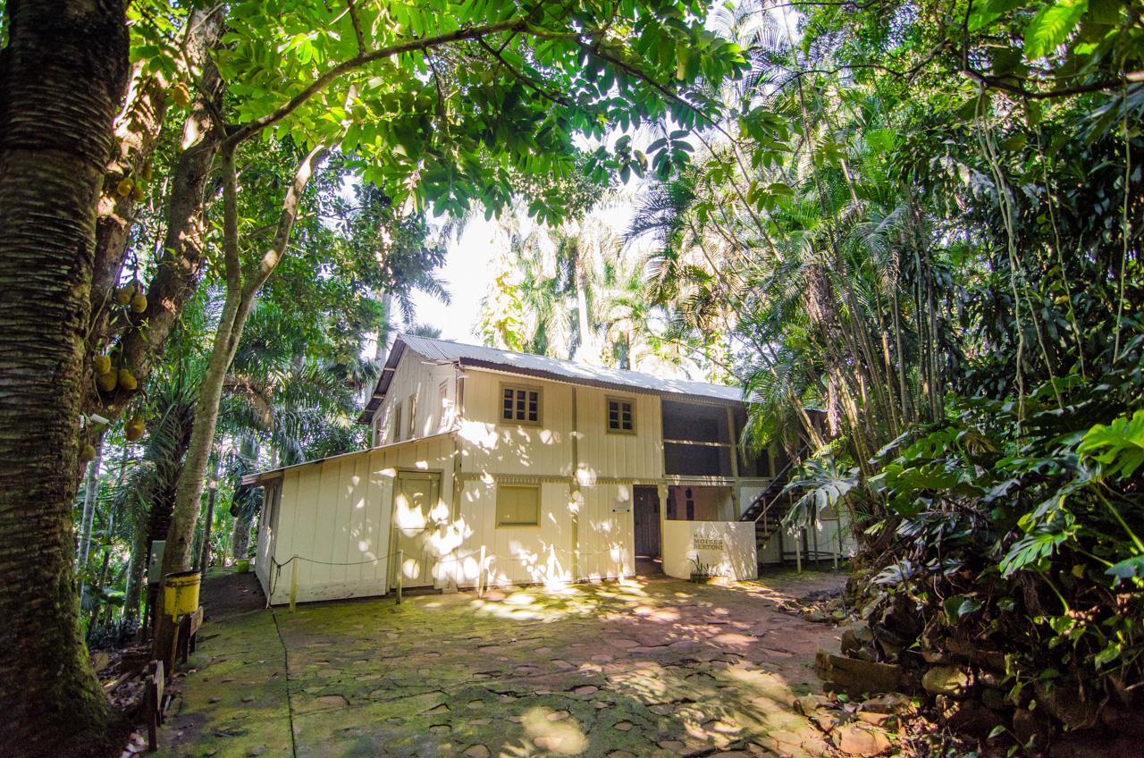 La casa donde el sabio Moisés Bertoni vivía y hacía sus investigaciones en los años 1891 hasta 1929, hoy en día funciona como museo dentro de la Reserva Moisés Bertoni (Dpto. de Alto Paraná), sus restos descansan en un cementerio cercano a esta casa. (Elton Núñez).